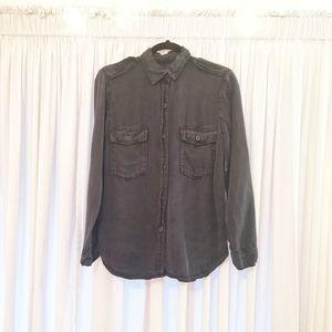 Zara Woman Dark-grey Button-up Shirt